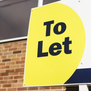 To Let Sign Displayed Outside House