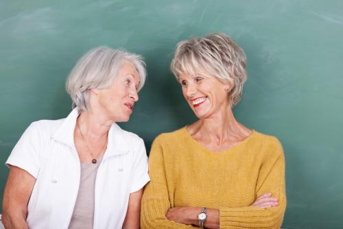 Two old friends enjoying a gossip