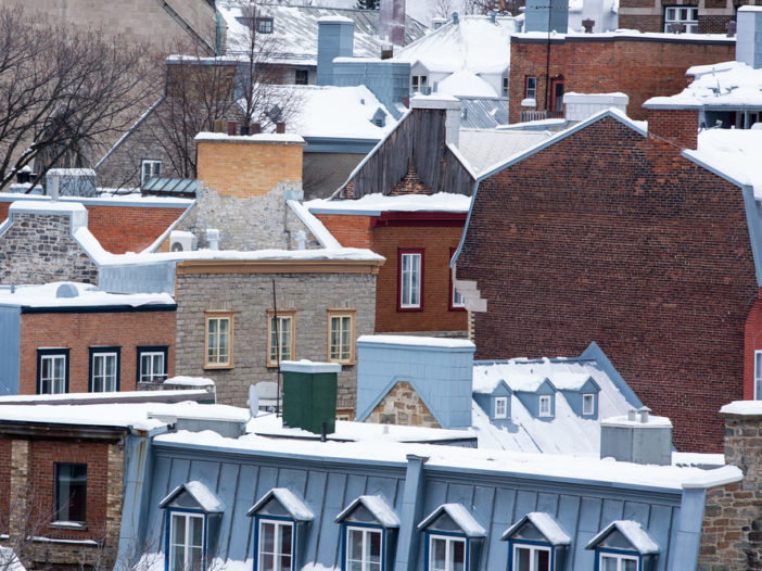 Roof top view of mortgaged homes
